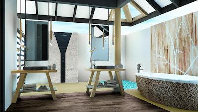 Amari Havodda Maldives 水上泳池別墅-浴室