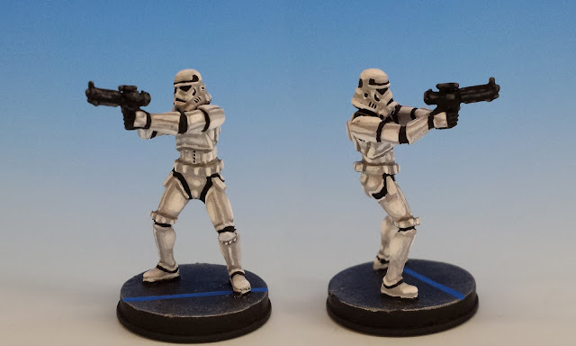 Stormtrooper Variant Pose, Imperial Assault FFG (sculpted by Benjamin Maillet, 2015)
