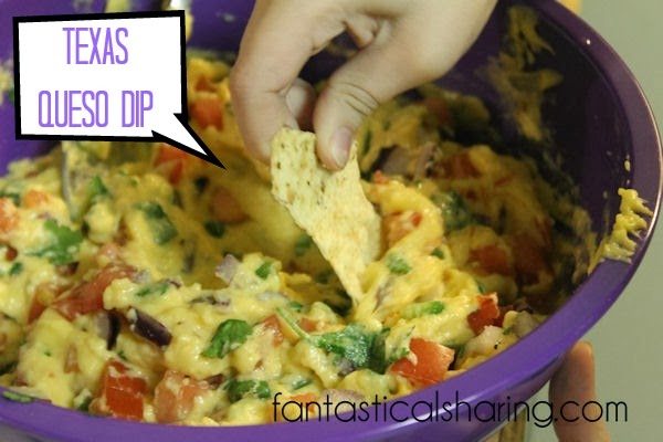 Texas Queso Dip | Fresh ingredients combine to make this delicious fake cheese-free appetizer!