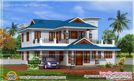 October 2014 home kerala plans for Home models in kerala