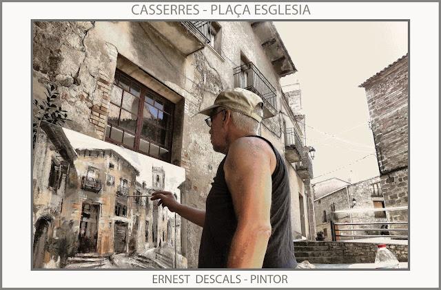 CASSERRES-PINTURA-ESGLESIA-PAISATGES-PINTURES-CATALUNYA-FOTOS-ARTISTA-PINTOR-ERNEST DESCALS-