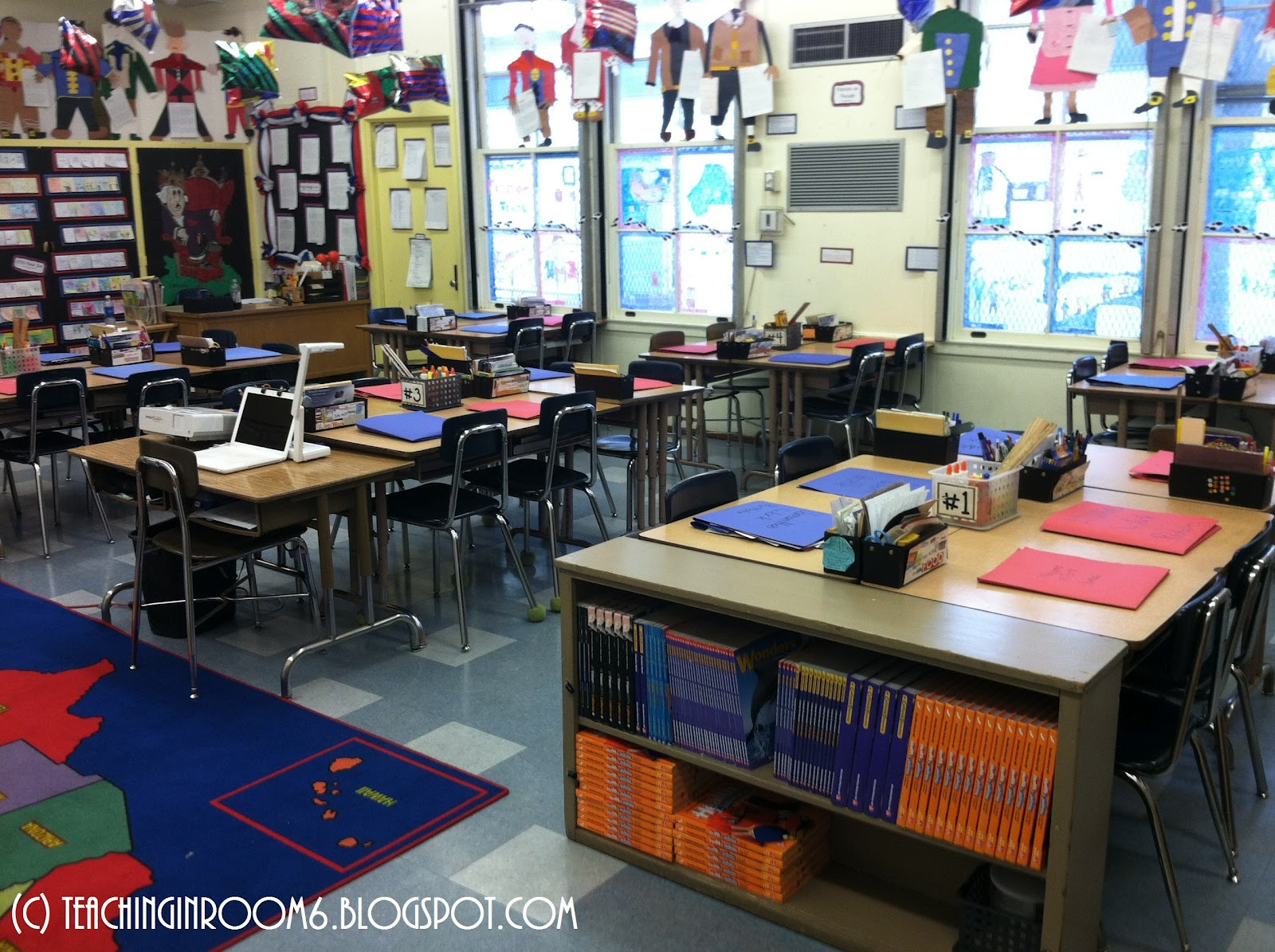Tour mrs moorman 39 s 5th grade classroom the cornerstone for Room arrangement ideas