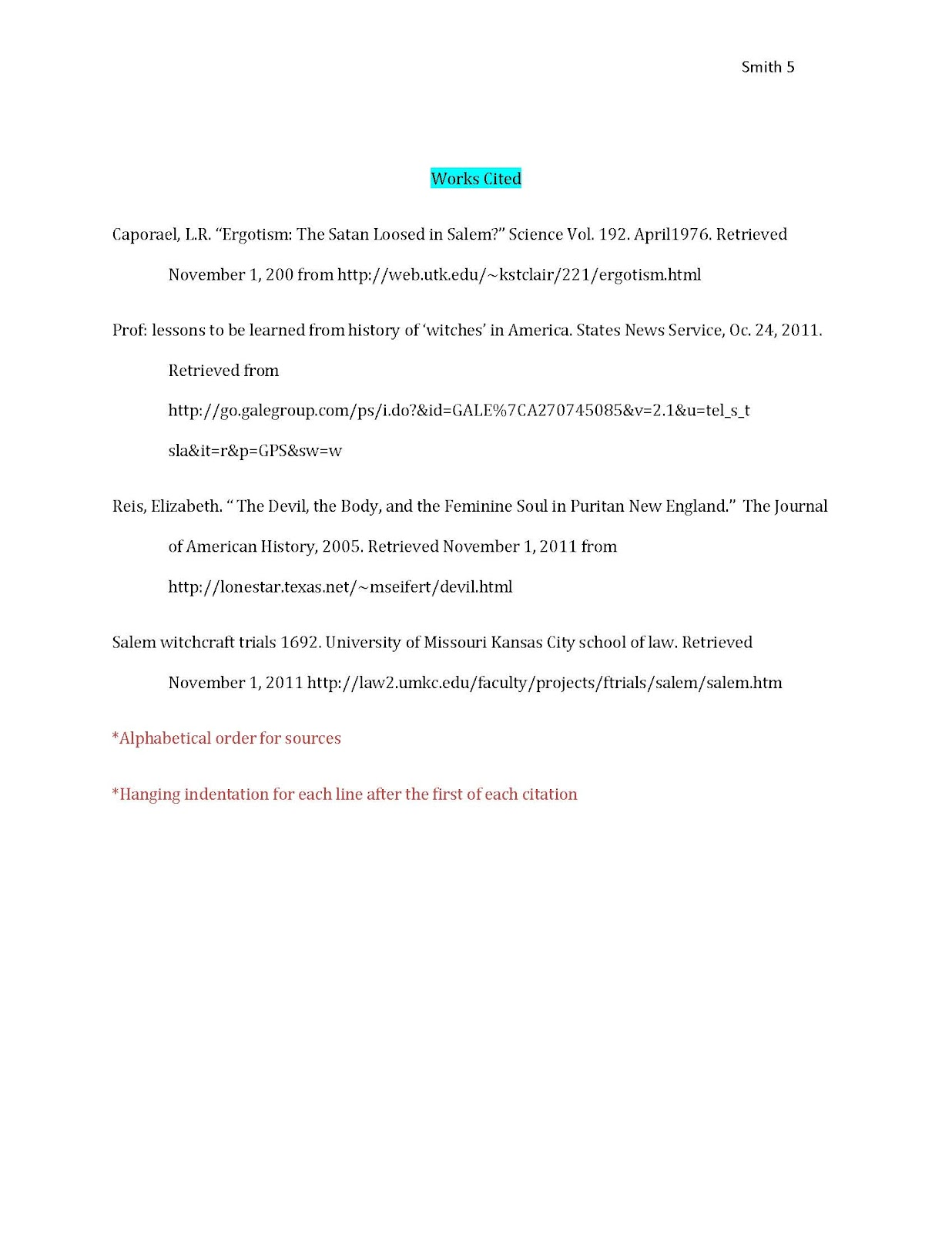 research paper formatting examples for more examples and citation help see the mla owl