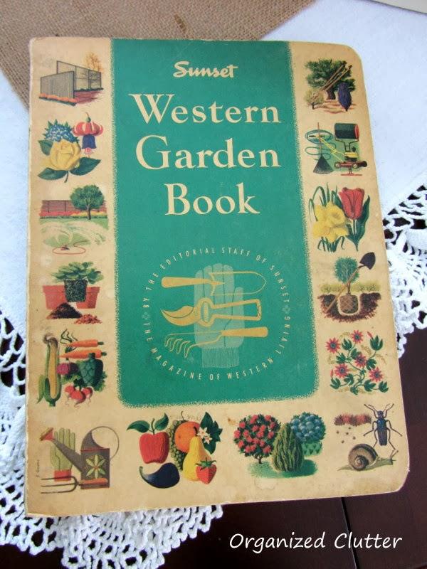 Vintage Gardening Books wwww.organizedclutterqueen.blogspot.com