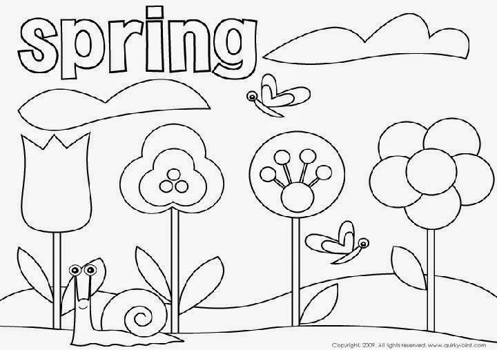 Spring coloring pages free coloring sheet for Spring color page