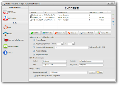 Split and Merge PDF Documents Software - Okdo Split and Merge PDF