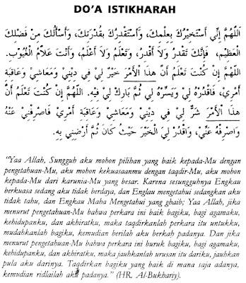 Bacaan Doa Shalat Istikharah
