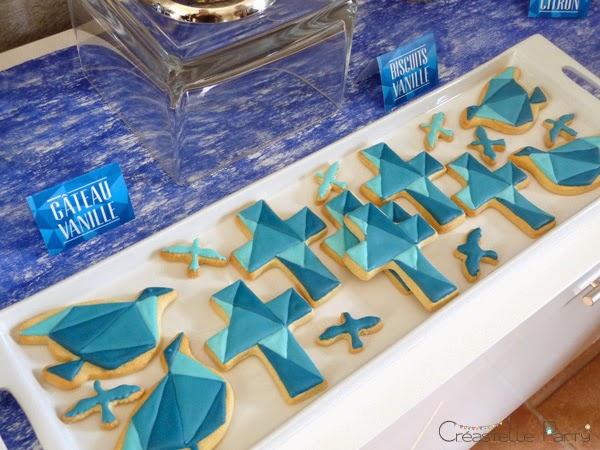 sweet table colombe origami sablés décorés