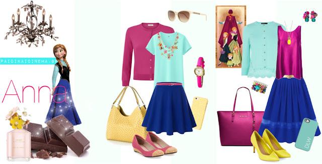 Τι θα φορούσαν οι Πριγκίπισσες της Disney, αν ήταν σύγχρονα κορίτσια! Ψυχρά κι Ανάποδα (2013) - Άννα