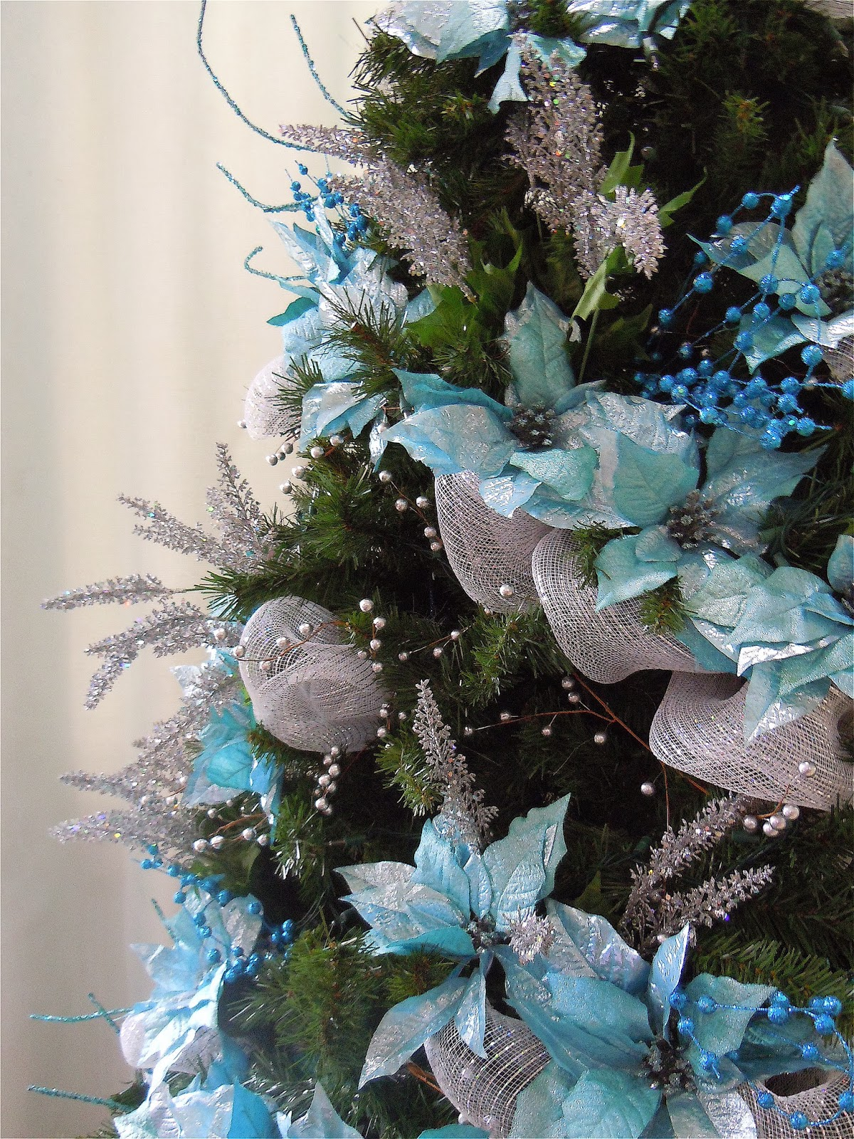 turquoise and silver christmas tree - Blue And Silver Christmas Tree