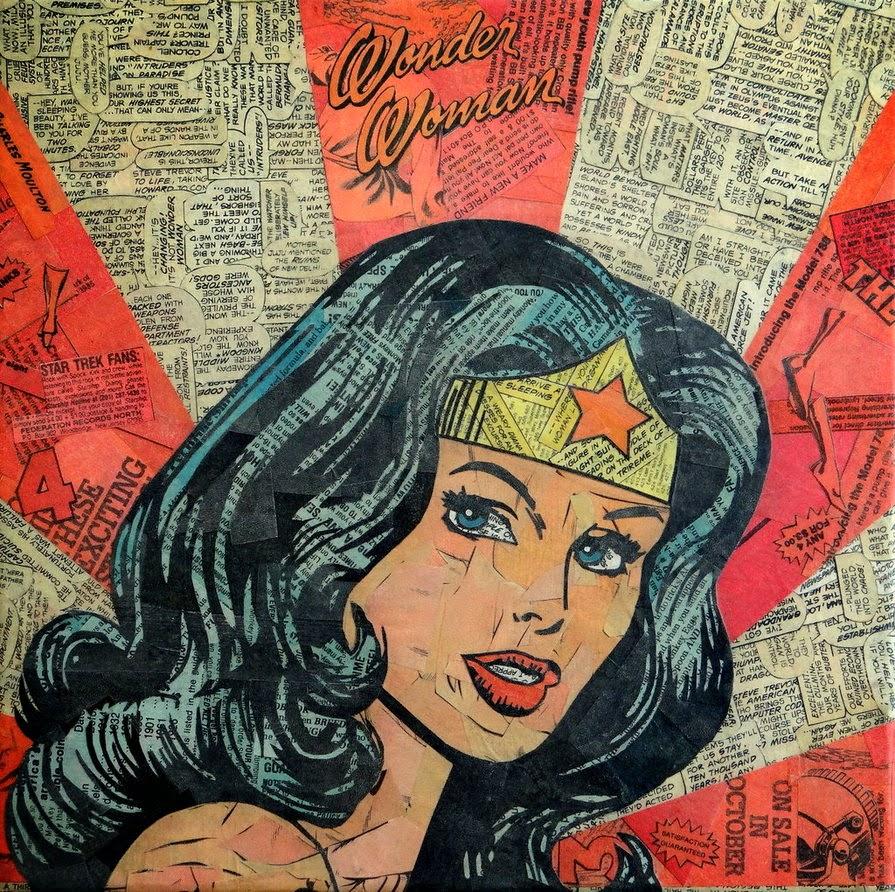 21-Wonder-Woman-Mike-Alcantara-Comic-Collage-Art-www-designstack-co