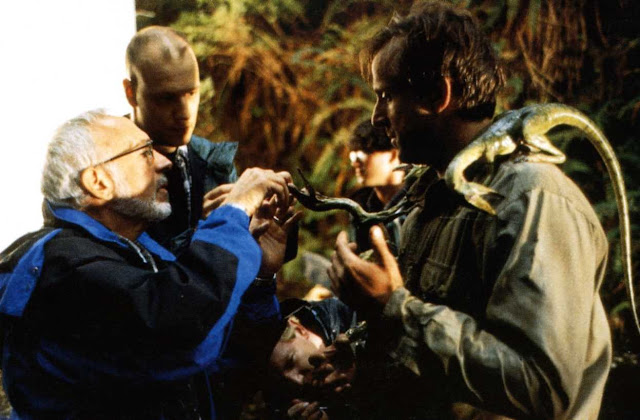 Stan Winston and Peter Stormare behind the scenes on Jurassic Park Lost World.