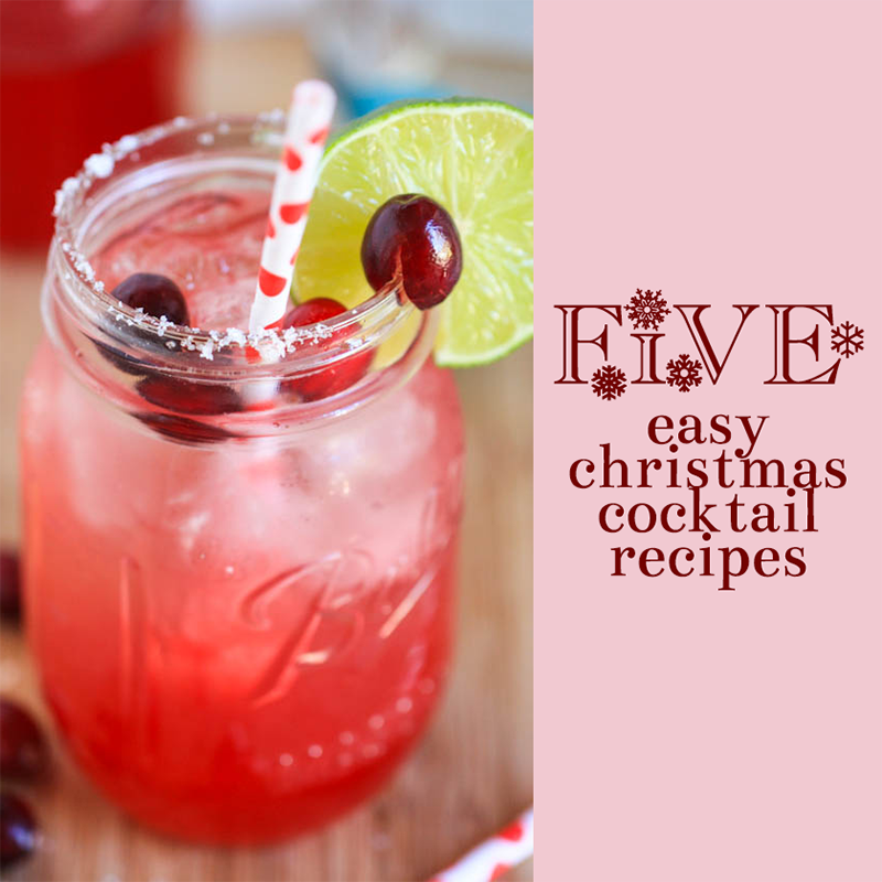 Holidays 5 Easy Christmas Cocktail Recipes Stelly Blog