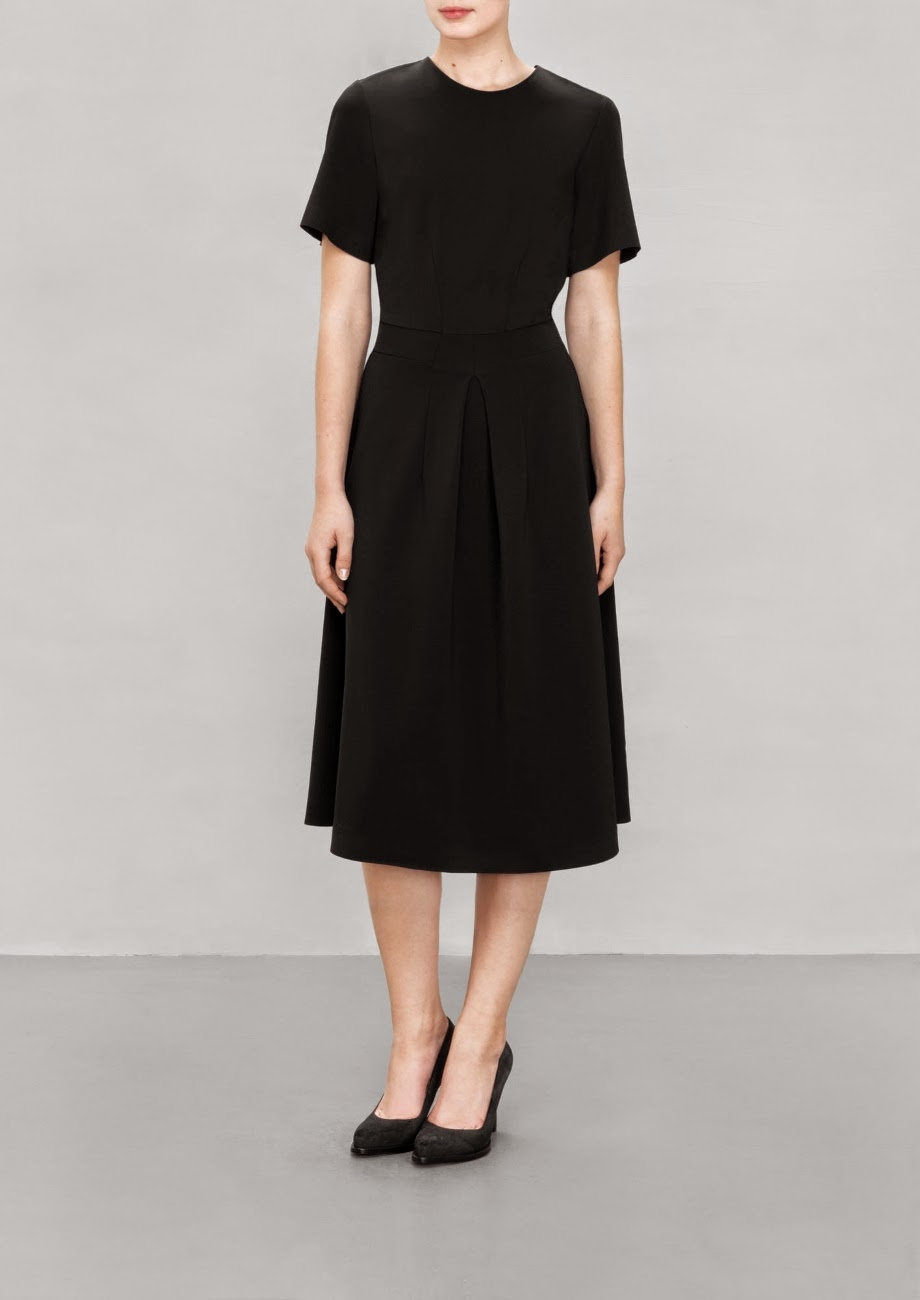 stories black midi dress
