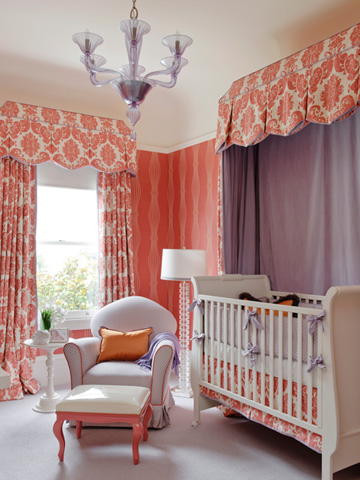 Love The Retro Vibe In This Nursery I It That Wood Wall Is Very Modern And Not So Dark