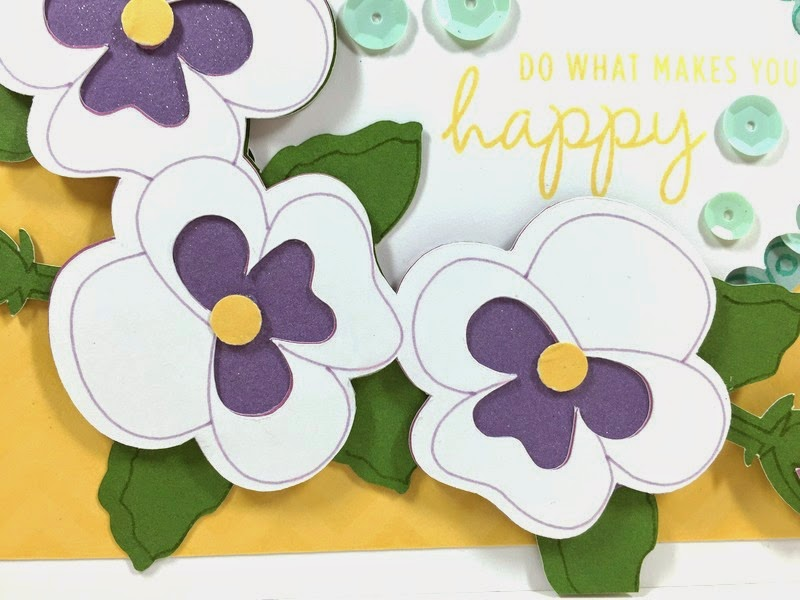 Cricut Happy Pansy card