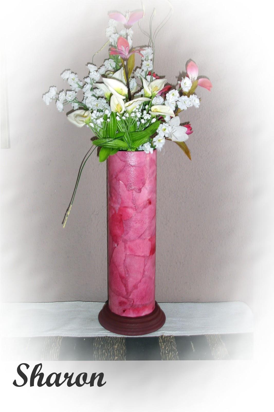 Las manualidades de sharon floreros hechos con envases de patatas pringles - Que manualidades puedo hacer ...