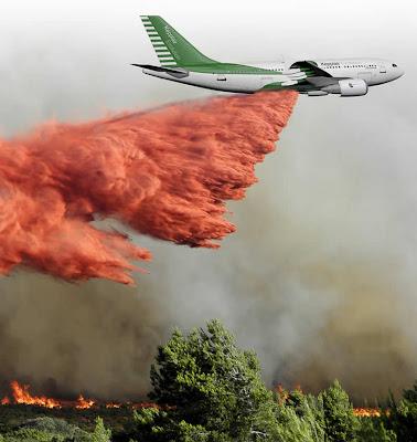 Airbus A310 Kepplair Evolution apagando incendio