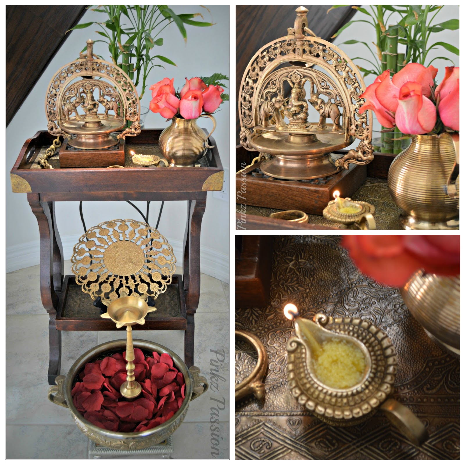 Pinkz passion blessings of pooja for Simple home decor ideas indian