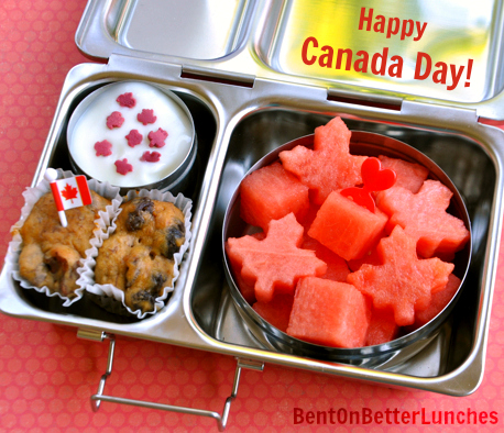 Canada Day Snack in PlanetBox Shuttle