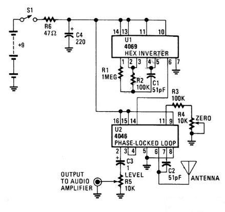 build a digital theremin circuit diagram
