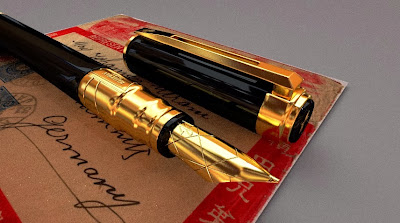fountain pen waterman perspective 3d