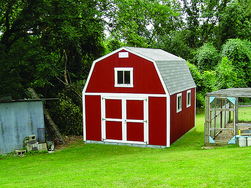 Red Tuff Shed Barn