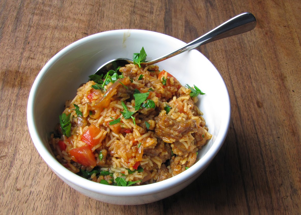 Smells Like Food In Here: Spicy Sausage Rice