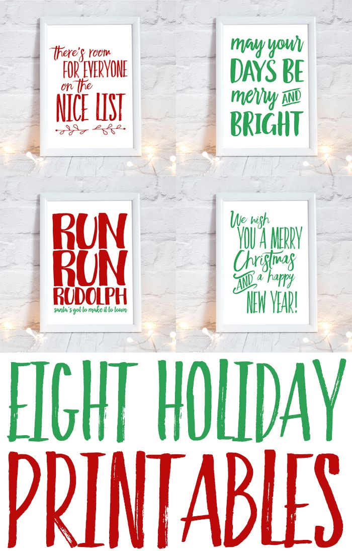 Holiday Printable Bundle: