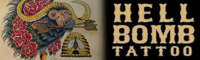 Hell Bomb Tattoo - We DO NOT do body piercing