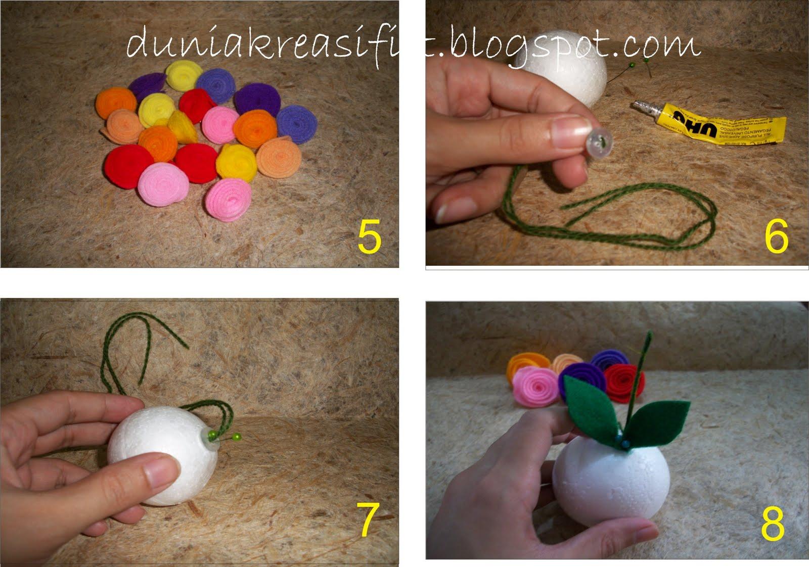 pasang mawar, lalu tusuk dengan jarum pentul, warna jarum pentul