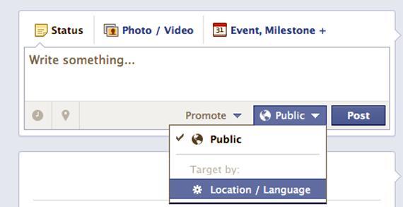 Pana acum, Facebook permitea filtrarea publicului doar in functie de limba si locatie
