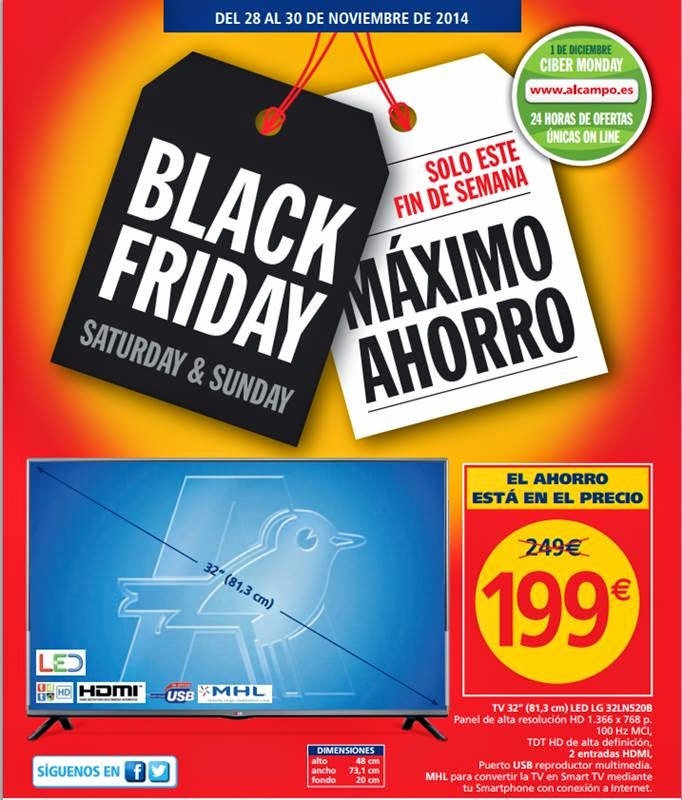 catalogo alcampo black friday 2014