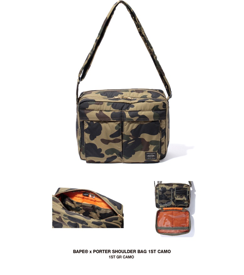 hype street bape x porter collection shoulder bag day