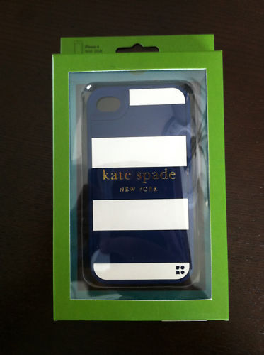 Kate Spade iPhone 4 Soft Patching Stripe navy white silicone case - S$ ...