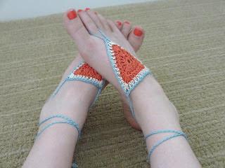 free crochet pattern barefoot sandals