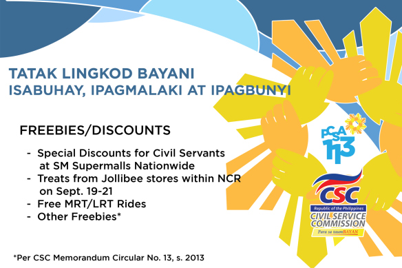 113th Philippine Civil Service Anniversary Perks