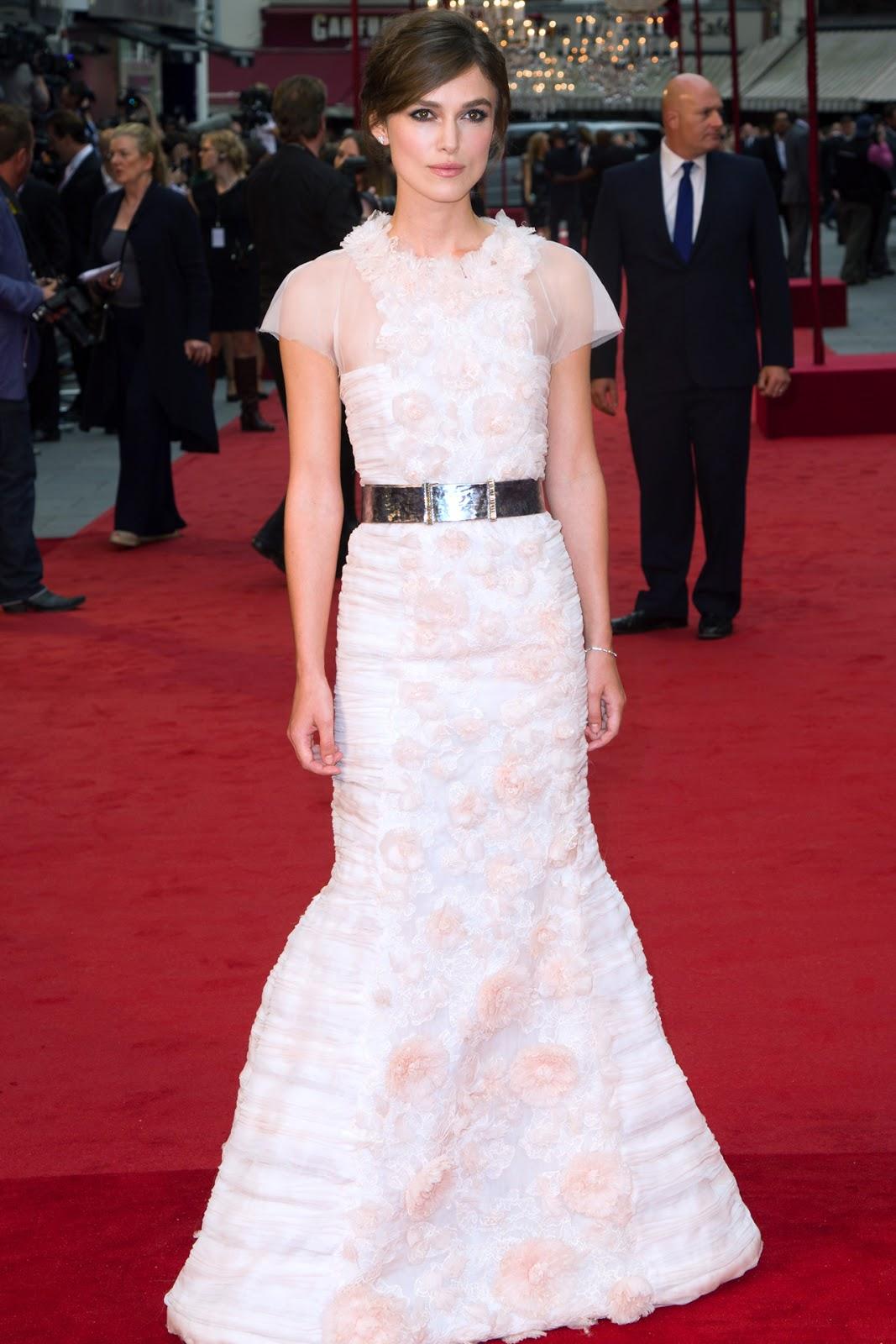 Keira Knightley Anna Karenina premiere in Chanel