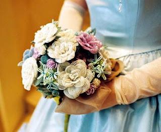 свадебные букеты из бисера