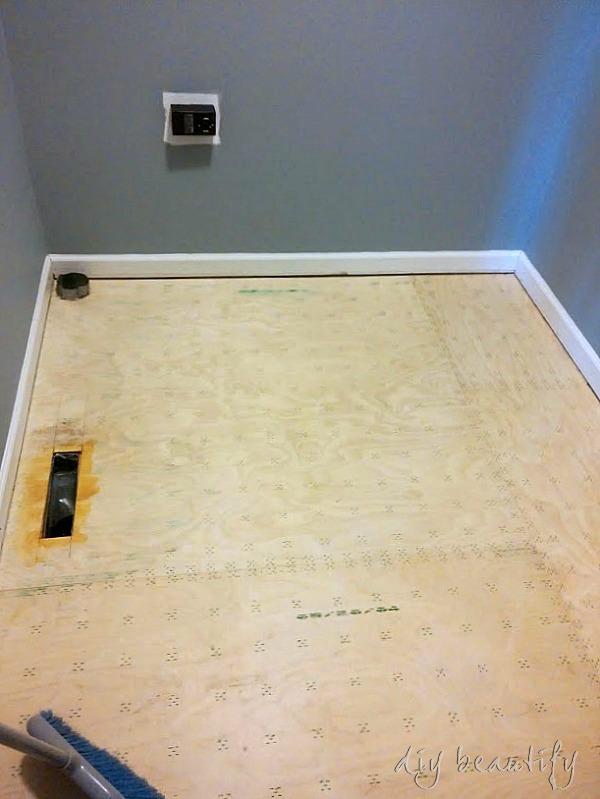 Floor primer for self stick tiles