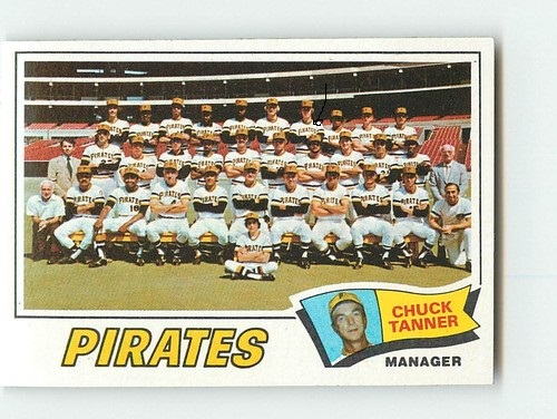 1977 Team Card (actually 1976 photo: Bob Moose, arrow)