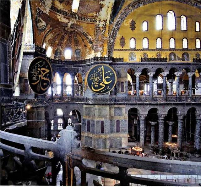 "Hagia Sophia, also known as the ""Church of the Holy Wisdom"", is located in Istanbul, Turkey. The church has been turned into a museum now. The church was made by the first Christian Emperor – Constantine the Great, who is also known as the founder of Constantinople. This church is the greatest church out of the many churches he built in many cities. The church which stands today is nothing of the original one due to the destruction that occurred through time. When the original Hagia Sophia was destroyed, it was rebuilt by Theodosius the Great, but sadly it was burnt down again in the Nika riots of 532. Some of the remains can still be seen after deep excavations."