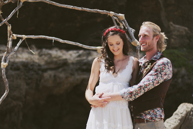 australian vintage beach wedding