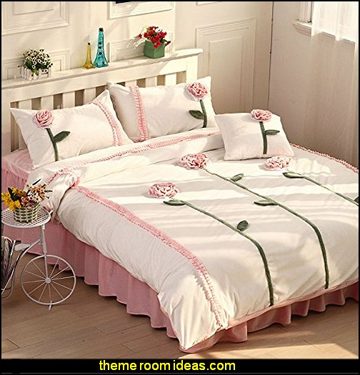 Dandelion 3d Bedding Set White