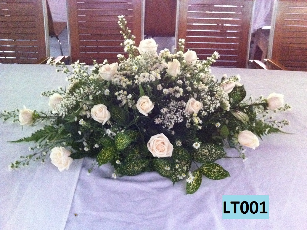 Bedok flower shop 39 s online blogshop long table floral for Table arrangements