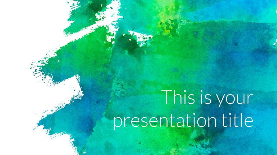 Eglamour presentation template powerpoint tempcrawl get creative with your powerpoint or google slides presentation using this artsy template it uses watercolor textures to create bold and vivid slides toneelgroepblik Image collections