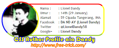 CSS Author Profile ala Dandy ( Xpress Community )