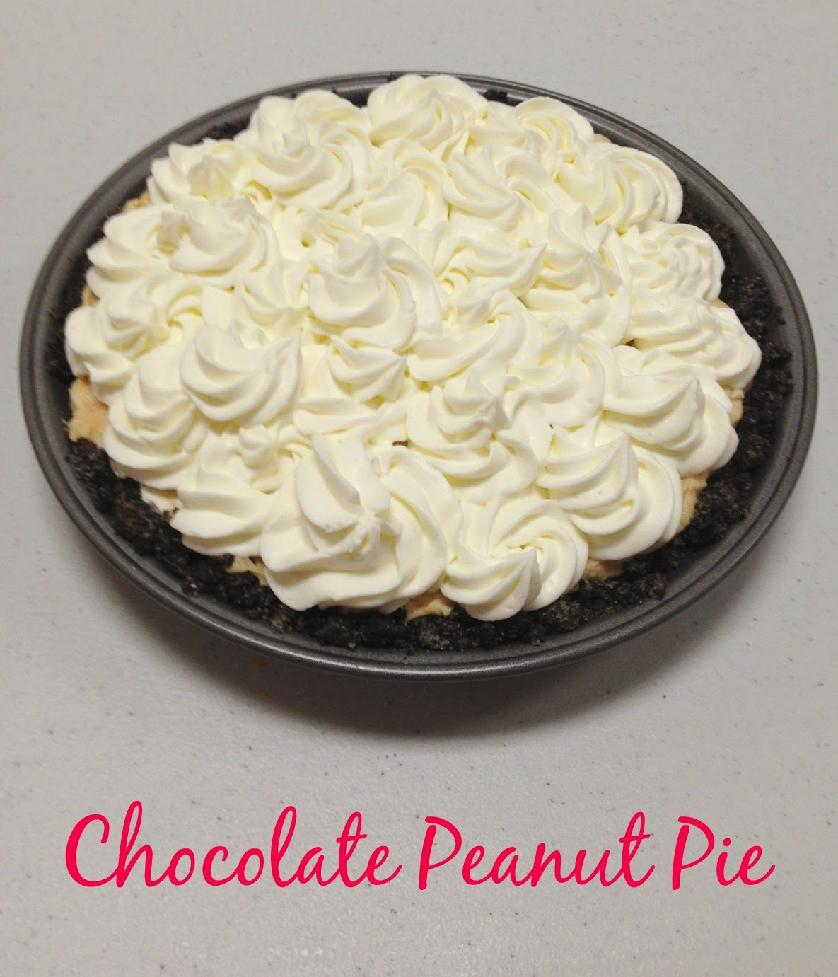 chocolate peanut pie was the pie i made for the church pie auction the ...