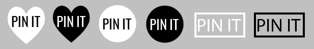 Free Pinterest Pin It Buttons in Monochrome