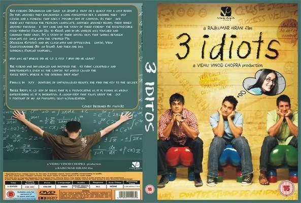 3 IDIOTS (2.009) con AAMIR KHAN + Vídeos Musicales + Jukebox + Sub. Español + Online  3%2BIdiots-dvdcover-2
